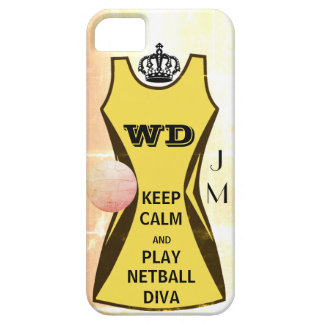 Personalised Keep Calm and Play Netball Diva Barely There iPhone 5 Case