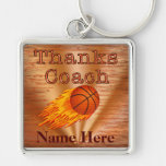Personalised Keychains Basketball COACH Gift Ideas