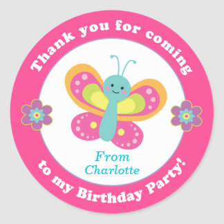 Personalised kids birthday party sticker stickers