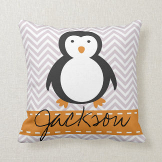 Personalised Kids Holiday Penguin Pillow