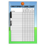Personalised Kid's Sports Basketball Chore Chart