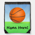 Personalised Kid's Sports Basketball Sunny Day Rucksack