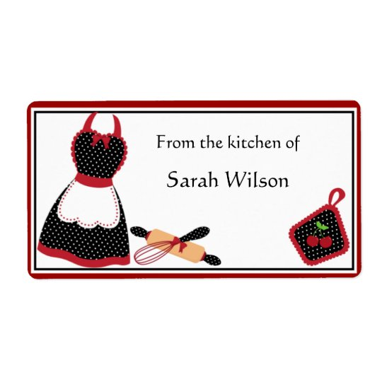 Personalised Kitchen Labels large size