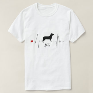Personalised Labrador Love My Dog Heart Beat T-Shirt