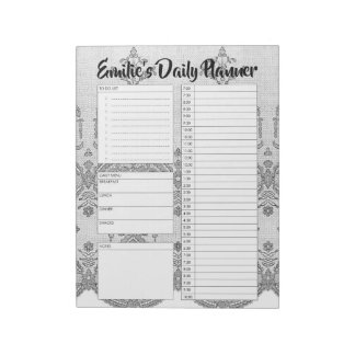 Personalised Lace Daily Planner Organiser Diary Notepad