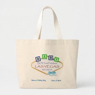 Personalised Las Vegas Baby Boy Jumbo Tote. Large Tote Bag