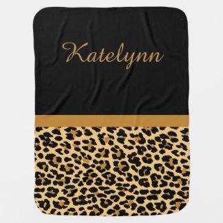 Personalised Leopard Print Custom Baby Blanket