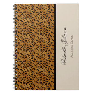 Personalised: Leopard Print Notebook