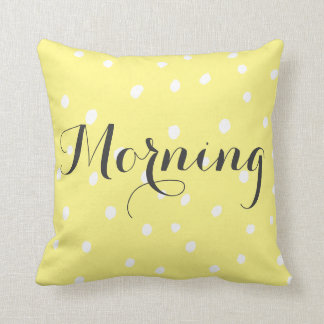 Personalised Lettering - Polkadot graphics Throw Pillow