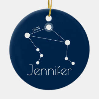 Personalised Libra Constellation Ornament