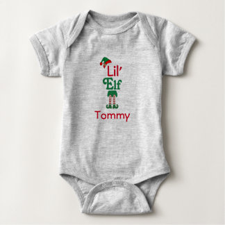 Personalised Lil Elf Baby Bodysuit
