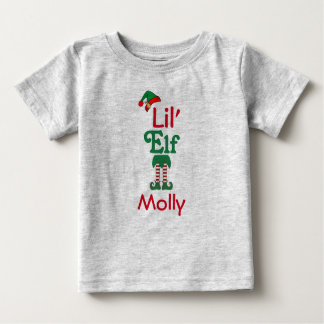 Personalised Lil Elf Baby T-Shirt
