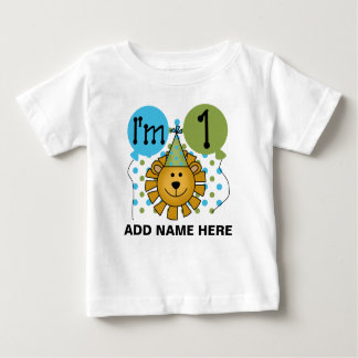 Personalised Lion 1st Birthday T-shirt