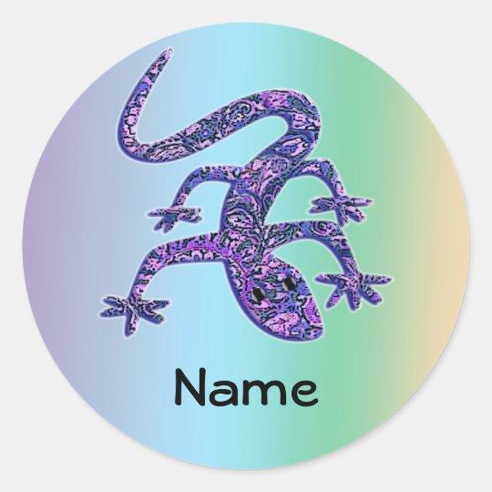 Personalised Lizard / Gecko / Salamander Stickers
