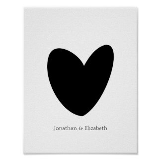 Personalised Love Heart Print