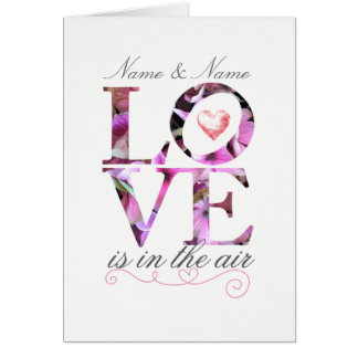 Personalised Love is in the Air Wedding Card