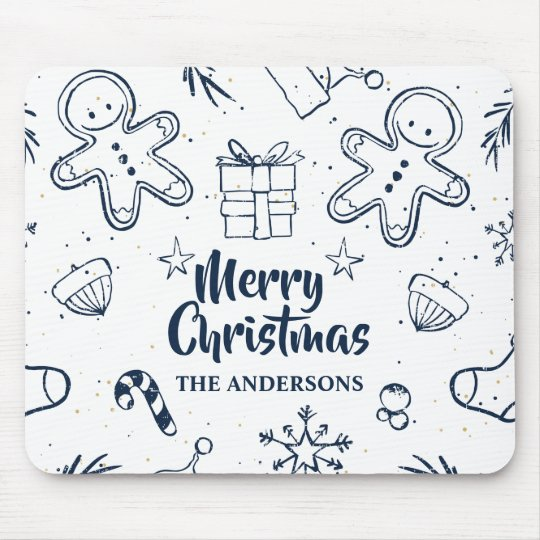 Personalised Lovely Christmas Sketch | Mousepad