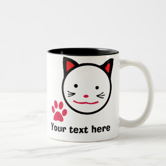 Personalised Lucky Cat Mug