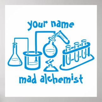 Personalised Mad Alchemist Poster
