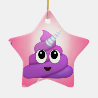 Personalised Magical Unicorn Poop Emoji Ceramic Ornament