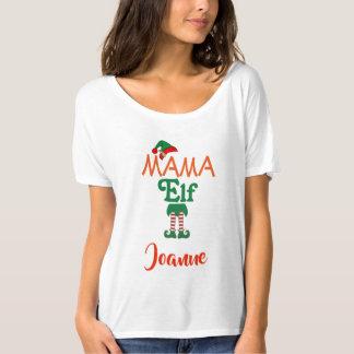 Personalised MAMA Elf T-Shirt
