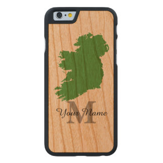 Personalised map of Ireland monogrammed Carved® Cherry iPhone 6 Case