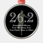 Personalised Marathon Runner 26.2 Keepsake Medal Ornaments
