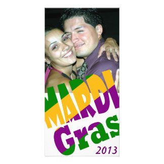 Personalised Mardi Gras 20xx Party Photo Card