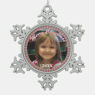 Personalised Merry Christmas Snowflake Ornament