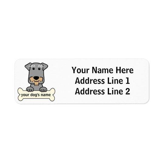 Personalised Miniature Schnauzer Return Address Label