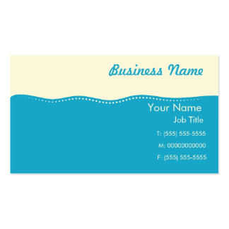 Personalised Modern Business Card - Cream Top