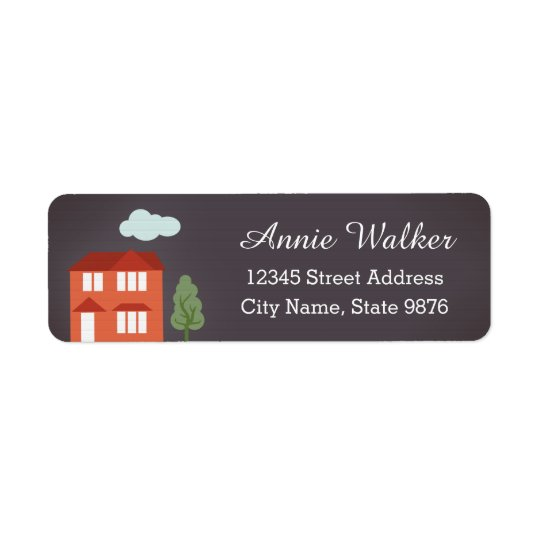 Personalised Modern House Return Address Label