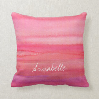 Personalised Modern Pink Rose Cushion