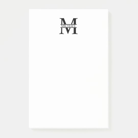 Personalised Monogram and Name Post-it® Notes