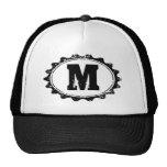 Personalised monogram letter baseball hat