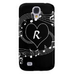 Personalised Monogram Musical notes heart