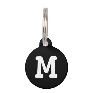 Personalised monogram pet tag for dogs and cats