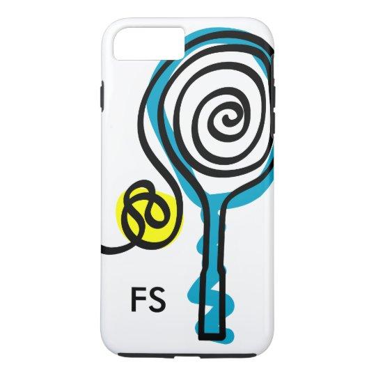Personalised monogram tennis racket and ball iPhone 7 plus case