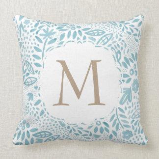 Personalised Monogram Watercolour Pattern Cushion
