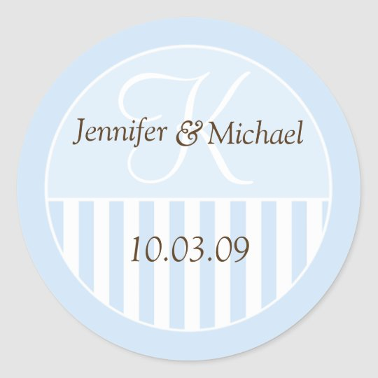 Personalised Monogrammed Wedding Favour Labels