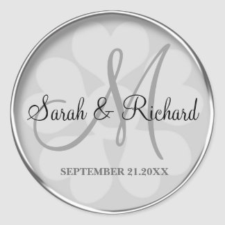 Personalised Monogrammed Wedding Stickers