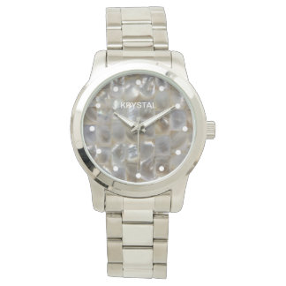 Personalised Mother of Pearl Mosaic Watch