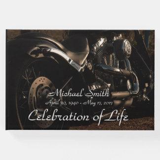 Personalised Motorcycle Memorial Guest Book
