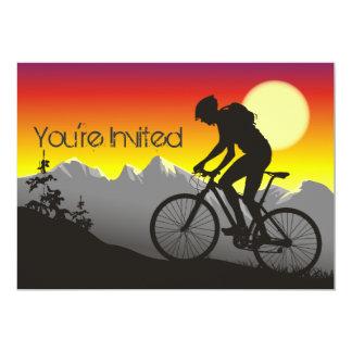 Personalised Mountain Bike Biker Birthday Invite