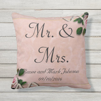 Personalised Mr. And Mrs Throw Pillow
