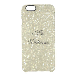 Personalised Mrs Glittery Gold iPhone 6/6s Case