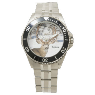 Personalised Mule Deer Buck Watch