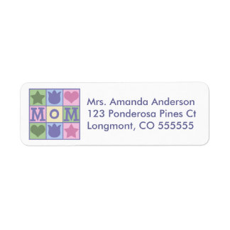 Personalised Mum Quilt Square Address Labels