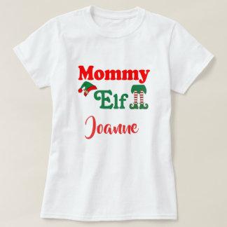Personalised Mummy Elf T-Shirt