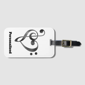 Personalised Music Lover Luggage or Instrument Tag